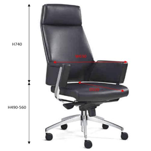 JEWEL Director Chair Genuine Leather