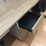 B-One Series Open Concept Workstation for 4 with Drawers (TK)