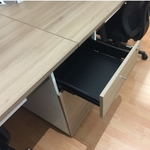 B-One Series Open Concept Workstation for 4 with Drawers TK