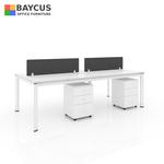 B1-241260 4 Pax Open Concept Workstation Col White
