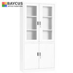FC-H2 Half Glass Full Height Swing Door Cabinet Col White