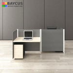 Abby 1.4m 2 Pax Safe Distance Office Cubicles (Table Top with Partition)