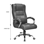 EMERALD Director Chair Genuine Leather