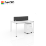 B-One 121275-WT 2 Pax (1.2m) Open Concept Workstation with Desktop Panel Col: White