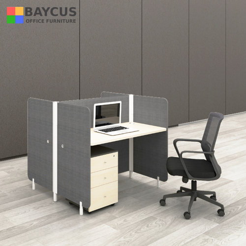 Abby 1.2m Double Office Cubicles with Mobile Pedestal