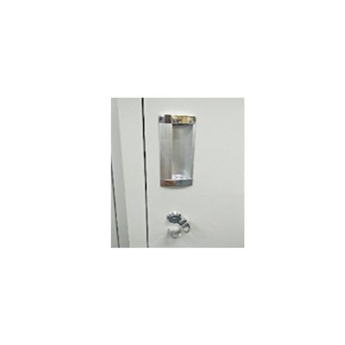2 Compartment Steel Locker with Latch Lock