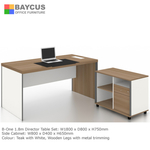 B-One 1.8m Director Table Set Col. Teak with White