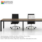 B-One B-CT3200 3.2m Meeting Table (Brown)