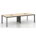 B-One 2.4m N Leg Conference Table with Wire Management Compartment