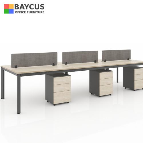 B-One 361275-WT6 Pax 1.2m Open Concept Workstation Maple  Dark Grey
