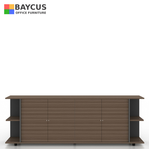 B-One Desk Height Conference Cabinet Col Oak Brown