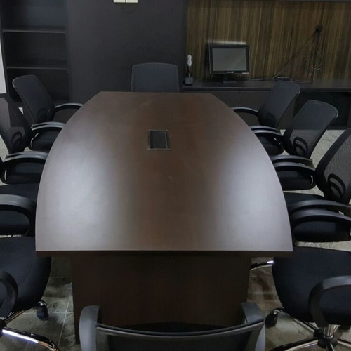 ST2400CT 2.4m Boat Shaped Conference Table Walnut)