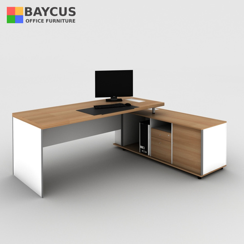 B-One 2.0m Director Table Set (Col. Teak with White) - R