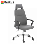 TOURMA High Back Chair (Grey Fabric)