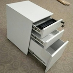 Silver Metal Mobile Pedestal with 2 Drawers & 1 Filing