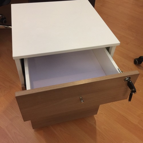 B-One Mobile 3 Drawers Teak  White