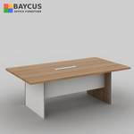 2.4m Rectangular Conference Table Col. Teak with White