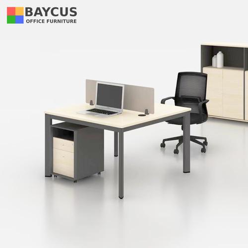 B-One 121260-MD 2 Pax (1.2m) Open Concept Workstation Col: Maple / Dark Grey
