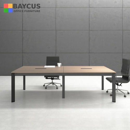 B-One N2400 2.4m Conference Table Col Oak Brown