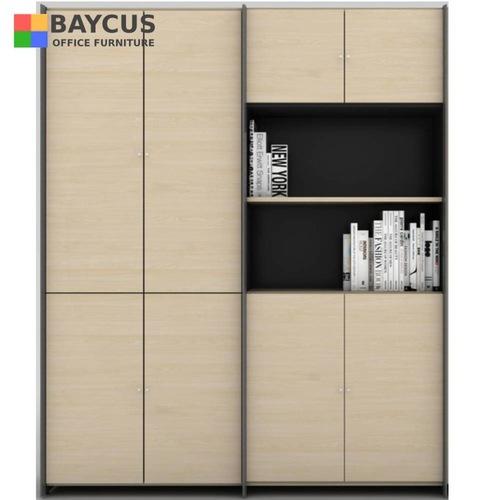 B-One Twin High Cabinet Swing Door Maple  Dark Grey