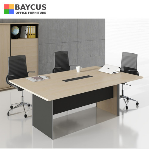2.4m Rectangular Conference Table with Wire Management Box