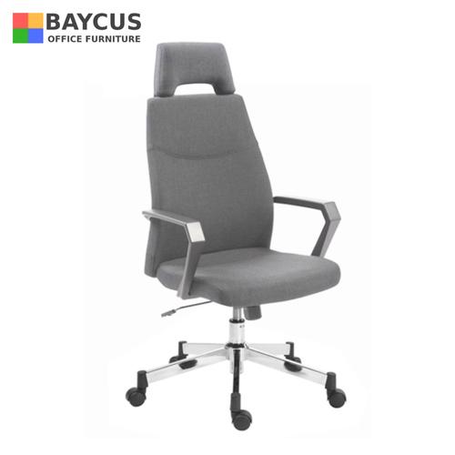 TOURMA High Back Chair Grey Fabric