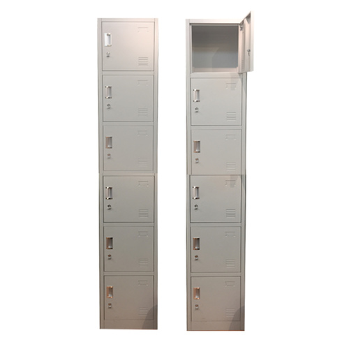 6 Compartment Locker with Latch Lock