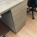 B-One Series Open Concept Workstation for 4 with Drawers (MG)