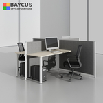 BA Series 1.4m Table with Partition for 4 Persons Maple Top