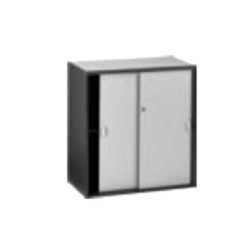 Grey Sliding Door Cabinet