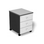 Mobile Pedestal with 3 Drawers - Col. 2 Tone Grey