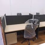 Abby 1.4m 4 Pax Office Cubicles Table Top with Partition