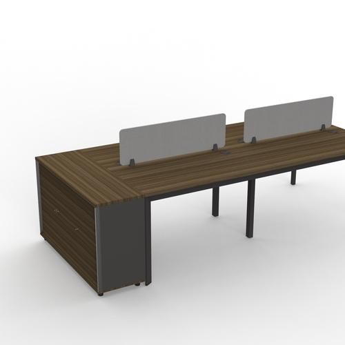 B-One Desk Height 3 Door Swing Door Cabinet With Lock Col: Oak Brown
