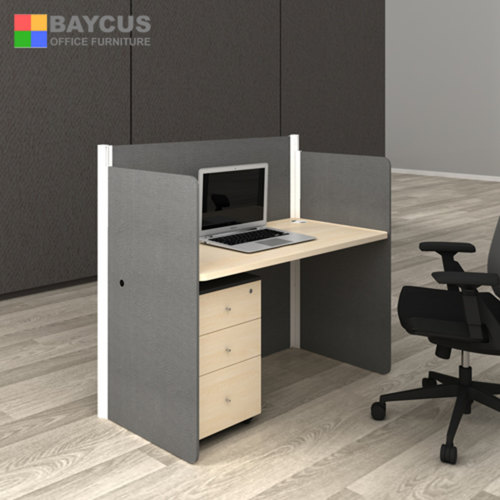 B-One 1200 Single Workstation with Fabric Panel