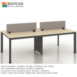 B-One Open Concept Workstation for 4 Pax