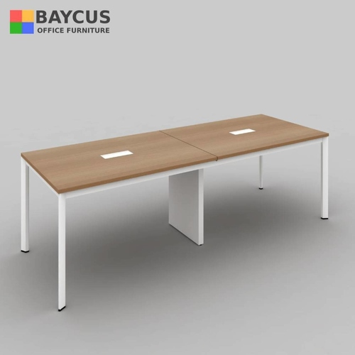 B-One N-CT2400 Conference Table Col: Teak / White