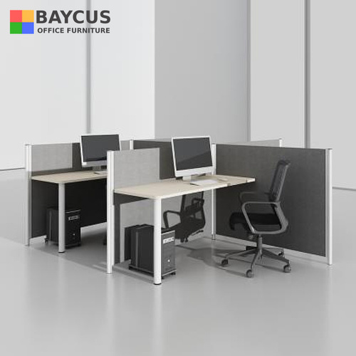 BA 1.4m Double T-Shaped Workstation for 4 Person (Maple)