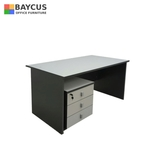 1.5m Writing Table with Mobile Pedestal Grey
