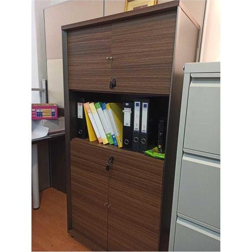 B-One Single Medium High Cabinet 3 Tiers Col Oak Brown
