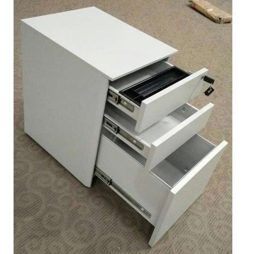 WD-H3 White Metal Mobile Pedestal 2D1F