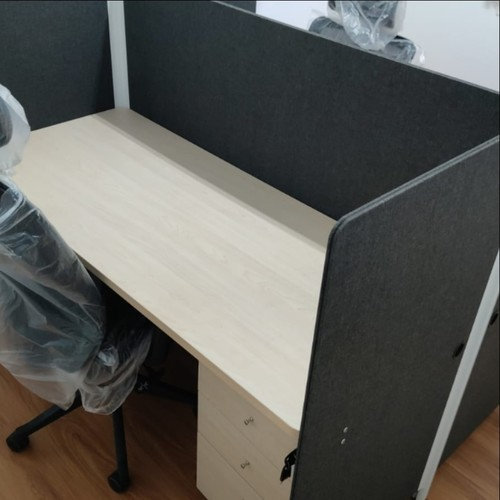 Abby 1.4m Double Office Cubicles Table Top with Partition