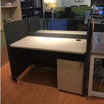 B-One Series 1.2m Office Cubicles for 4 Pax (Maple/Teak Table)