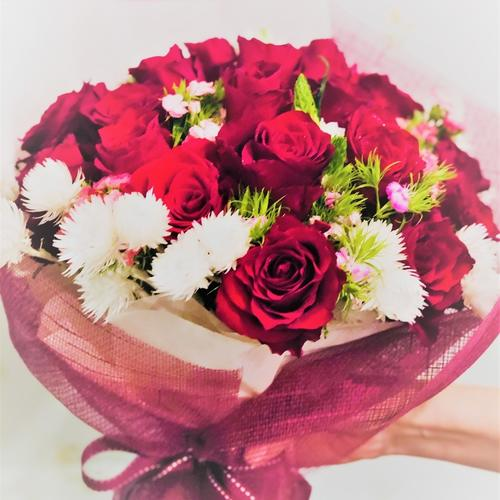 21 Kenya Rose Valentine Bouquet