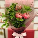Trio Tulips & Seasonal Foliage