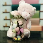 Babe Bear  & Cotton Flower