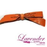 Orange Ribbon Hair Clip