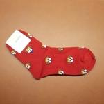 Minimal Puppy Red Sock