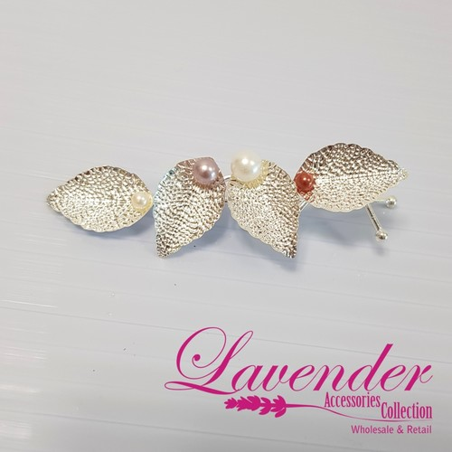 Shining Leaves Hair Clip