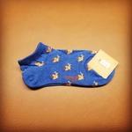 Minimal Deer Blue Sock