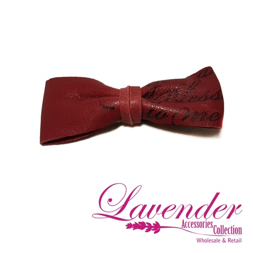 Dark Red Fashion Ribbon Hair Clip